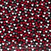 Scottie Love - Love Me Hearts Black Yardage