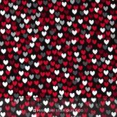 Scotty Love - Love Me Hearts Black Yardage