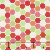 Make Yourself at Home - Mini Hexagons Red Green Yardage