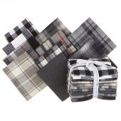 Mammoth Flannel - Black Colorstory Fat Quarter Bundle