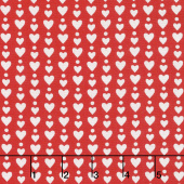 Red-iculously in Love - Hearts & Dots Red Yardage