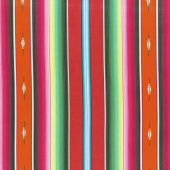 Southwest - Fiesta Serape Stripe Red Yardage