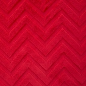 "Cuddle Embossed Chevron - Red 60"" Minky Yardage"
