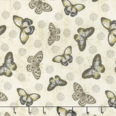 Chantrell - Butterflies Allover Tan Yardage