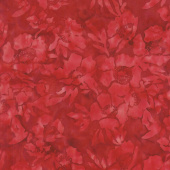 Tonga Batiks - Poppy Poppies Crimson Yardage