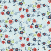Hedge Rose - Garden Aqua Yardage