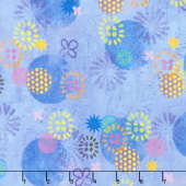 Octopus Garden - Circles Ocean Digitally Printed Yardage