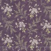 Sweet Violet - Violets & Ferns Violet Yardage