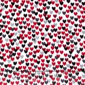 Scotty Love - Love Me Hearts White Yardage