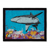 Man Sewing Black Tip Reef Shark Kit
