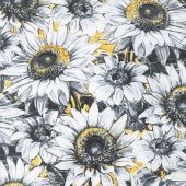A Bee's Life - Sunflowers Gold/Gray Yardage