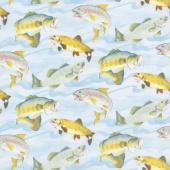 Gone Fishin' - Fish Aqua Yardage