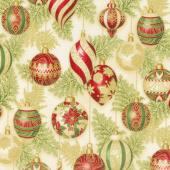 Holiday Flourish 11 - Holiday Ornaments Holiday Metallic Yardage