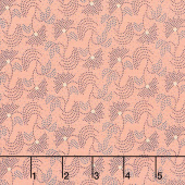 Blush and Blue - Vintage Blooms Blush Yardage