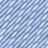 Bohemian Dreams - Stripe Blue Yardage