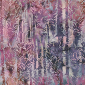 Snowberry Batiks - Snow Trees Mixed Berry Yardage