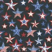 American Pride - Americana Stars Ink Yardage