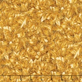 Shades of the Season 10 - Oak Leaves Brown Metallic Yardage