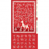 Scandi - Scandi Advent Calendar Red Panel