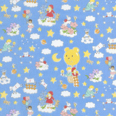 Storybook Sleepytime - Dream Clouds Blue Yardage