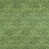 Deck the Halls - Damask Green Yardage