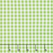 Splash of Lemon - Small Gingham Green Yardage