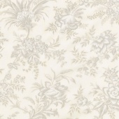 "Snowberry - Floral Toile Snow 108"" Wide Backing"