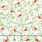 Woodland Winter - Birds and Berries Holly Yardage