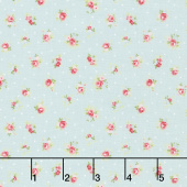 Amberley - Little Rose Polka Dot Hometown Sky Yardage