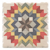Barn Quilts Coaster - Carpenters Star