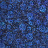"Wilmington Essentials - Flower Burst Navy 108"" Wide Backing"
