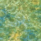 Countryside Batiks - Wheat Sunflower Moss Yardage