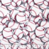 Sports - Baseballs White Yardage