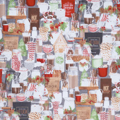 Hot Cocoa Bar - Packed Cocoa Bar Dark Gray Yardage