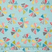 Mixed Bag 2017 - Pinwheels Sky Flannel Yardage
