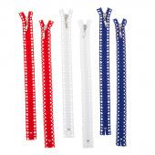 "Missouri Star Fancy Zips - Six 14"" Patriotic Zipper Pack"