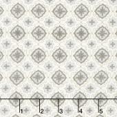 Homegrown - Farmhouse Tile Distressed Whitewash Yardage