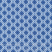 Blue Carolina - Carolina Tile Blue Yardage