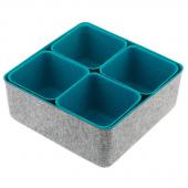 Felt Storage Bin - Turquoise