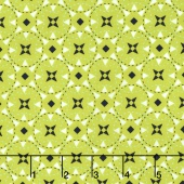 Juxtaposey - Posey Star Green Yardage