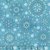 Winter Games - Snowflakes Teal Yardage