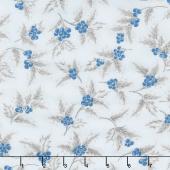 Holiday Flourish 13 - Blue Berries Metallic Yardage
