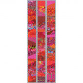 Kaffe Fassett Sliced Charm Table Runner Kit - Lipstick