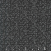 Greenery - Medallion Black Yardage