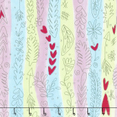 The Dress - Garden Stripe Green Yardage