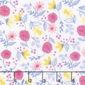 Once Upon a Time - Royal Garden White Yardage