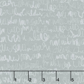 Modern Backgrounds More Paper - Scribbles Steel Yardage