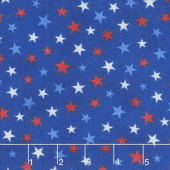 All Star Hockey - Multi-Color Stars Royal Multi Yardage