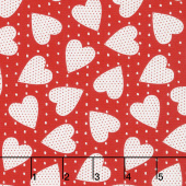 Red-iculously in Love - Heart Felt Red Yardage