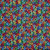 Novelty - Number Dance Black Yardage